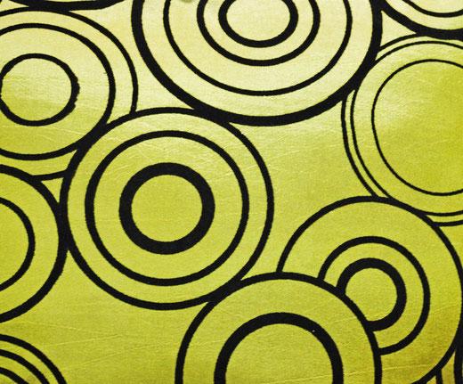 タイシルク クッションカバー  リングデザイン グリーン 【Ring Design , Green】 45×45cm 対応の商品写真02