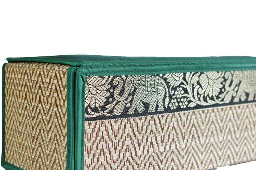 タイシルク ティッシュボックスケース エメラルドグリーンの商品画像02
