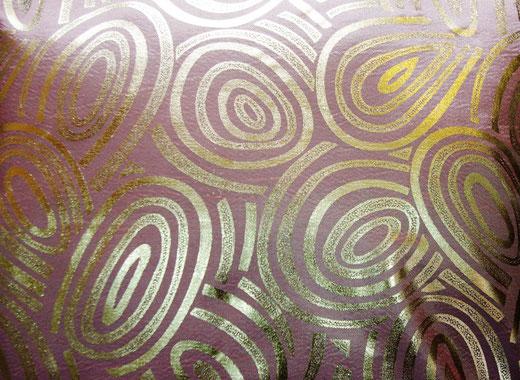 タイシルク クッションカバー  ゴールドリング デザイン シャンパンゴールド 【Gold Ring Design , Champagne Gold】 45×45cm 対応の商品写真02