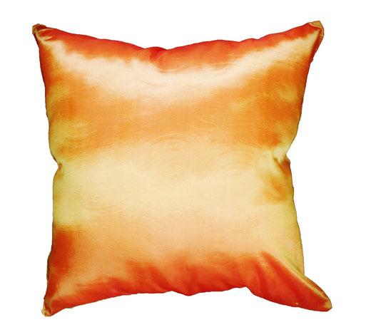 タイシルク クッションカバー  スクリュー デザイン オレンジ 【Screw Design , Orange】 45×45cm 対応の商品画像05