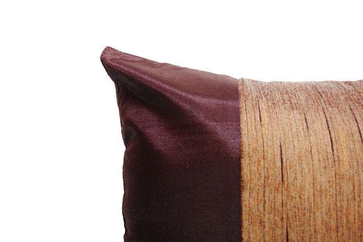 タイランド クッションカバー チェンマイ デザイン ブラウン 【Chiang Mai Design , Brown】 40×40cm の商品画像02