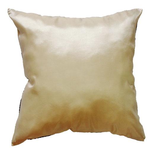 タイシルク クッションカバー  ロータス デザイン パール ホワイト 【Lotus Design , Pearl White】 45×45cm 対応 04