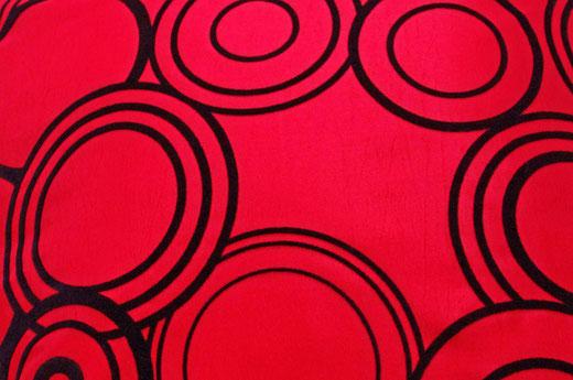 タイシルク クッションカバー  リングデザイン レッド 【Ring Design , Red】 45×45cm 対応の商品写真02