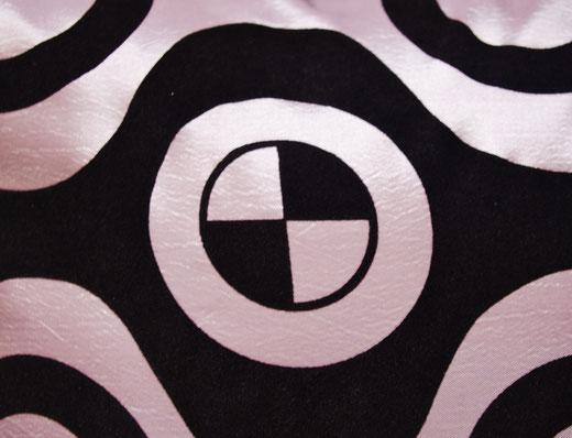タイシルク クッションカバー  チェッカーデザイン シルバー 【Checker Design , Silver】 45×45cm 対応の商品写真02