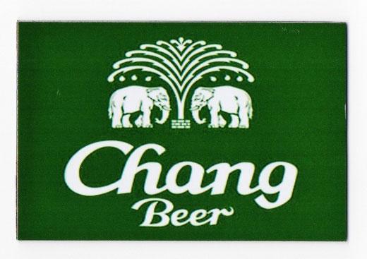 チャーン ビール マグネット type C (グリーン×横タイプ) 1枚 【タイ雑貨 Thailand Beer Chang Magnet】の商品画像01