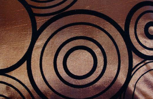 タイシルク クッションカバー  リングデザイン ブロンズ 【Ring Design , Bronze】 45×45cm 対応の商品写真12