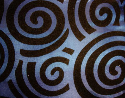 タイシルク クッションカバー  スクリューデザイン ブルー 【Screw Design , Blue】 45×45cm 対応の商品画像02