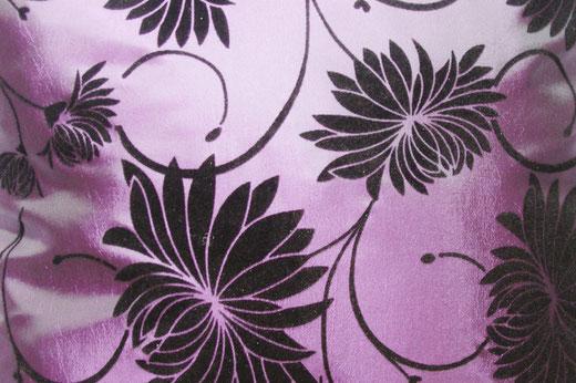 タイシルク クッションカバー  ロータス デザイン パープル 【Lotus Design , Purple】 45×45cm 対応 02