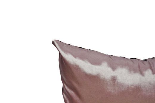 タイシルク クッションカバー  バンコク リーフ デザイン  シルバー   【Bangkok Leaf Design , Silver】 45×45cm 対応 05