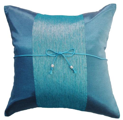タイランド クッションカバー チェンマイ デザイン ブルー 【Chiang Mai Design , Blue】 40×40cm の商品画像01