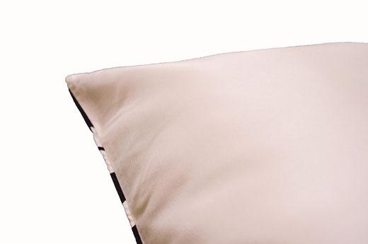 タイシルク クッションカバー  チェッカーデザイン ホワイト 【Checker Design , White】 45×45cm 対応の商品写真06