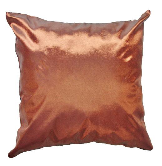 タイシルク クッションカバー  バンコク リーフ デザイン  ブロンズ   【Bangkok Leaf Design , Bronze】 45×45cm 対応 04