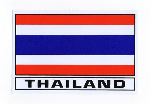 タイ王国 国旗 ステッカー(THAILAND National Flag Sticker ) M サイズ type A 1枚 【Thailand Sticker】の商品画像01