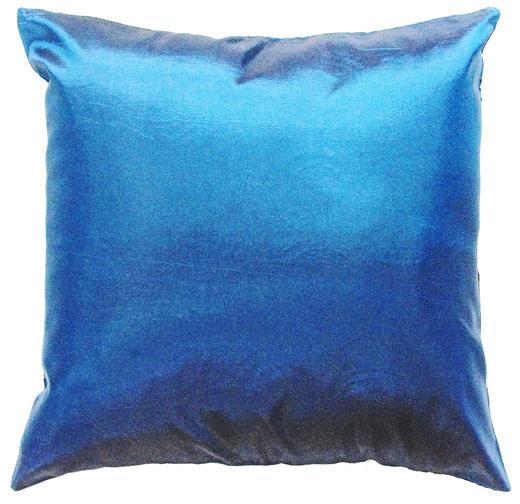 タイシルク クッションカバー  リングデザイン ターコイズブルー 【Ring Design , Turquoise Blue】 45×45cm 対応の商品写真04