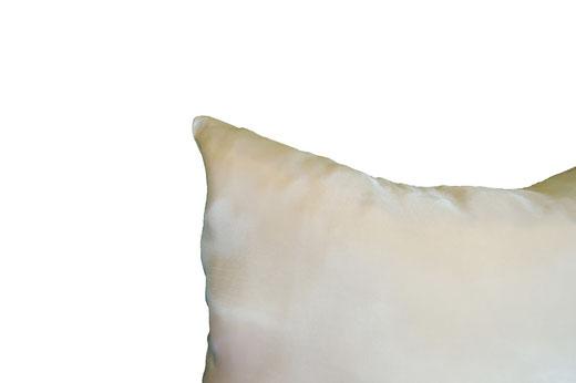 タイシルク クッションカバー  リーフ デザイン アイボリー 【Leaf Design , Ivory】 45×45cm 対応の商品写真15
