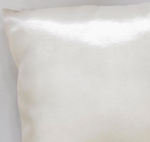 タイシルク クッションカバー  リングデザイン パールホワイト 【Ring Design , Pearl White】 45×45cm 対応の商品写真04