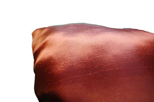 タイシルク クッションカバー  ゼブラ デザイン ブラウン 【Zebra Design , Brown】 45×45cm 対応の商品画像08