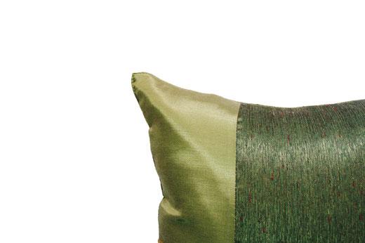 タイランド クッションカバー チェンマイ デザイン グリーン 【Chiang Mai Design , Green】 40×40cm の商品画像02