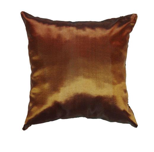 タイシルク クッションカバー  インフィニティ デザイン ブラウン 【Infinity Design , Brown】 の商品画像03