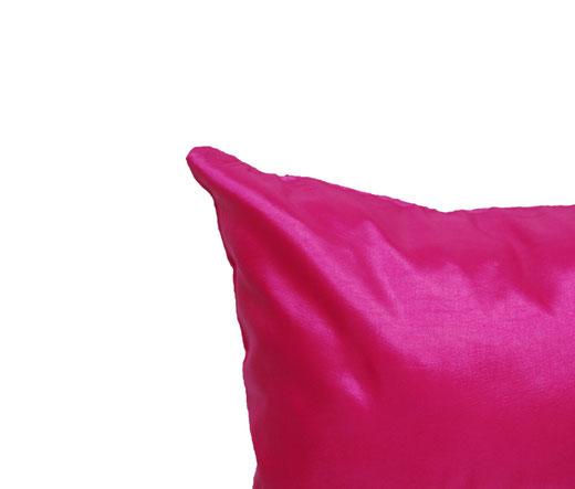 タイシルク クッションカバー  シンプル デザイン ピンク 【Simple Design , Pink】 の商品画像02