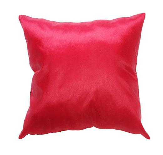 タイシルク クッションカバー  インフィニティ デザイン レッド 【Infinity Design , Red】 の商品画像03