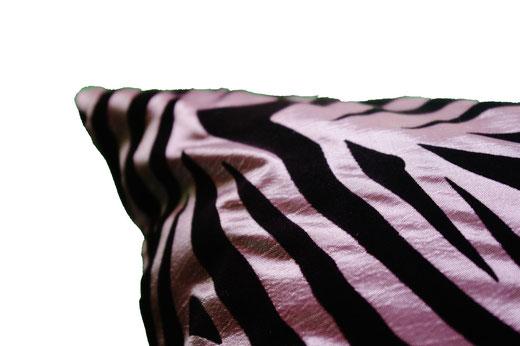 タイシルク クッションカバー  ゼブラ デザイン シルバー 【Zebra Design , Silver】 45×45cm 対応の商品画像04