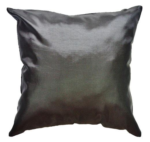 タイシルク クッションカバー  ロータス デザイン ブラック 【Lotus Design , Black】 45×45cm 対応 04