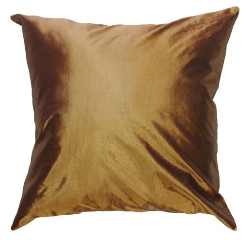 タイシルク クッションカバー  シンプル デザイン ゴールド 【Simple Design , Gold】 の商品画像01