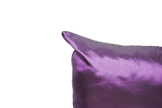 タイシルク クッションカバー  ロータス デザイン パープル 【Lotus Design , Purple】 45×45cm 対応 05