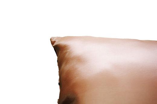 タイシルク クッションカバー  ゼブラ デザイン ゴールド 【Zebra Design , Gold】 45×45cm 対応の商品画像07