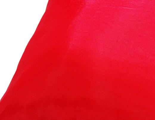 タイシルク クッションカバー  リングデザイン レッド 【Ring Design , Red】 45×45cm 対応の商品写真04