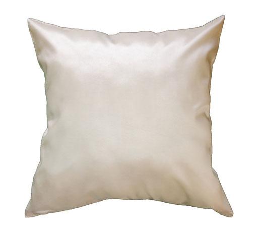 タイシルク クッションカバー  フラワー デザイン パールホワイト 【Flower Design , Pearl White】 45×45cm 対応の商品画像05