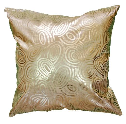 タイシルク クッションカバー  ゴールドリング デザイン ゴールド 【Gold Ring Design , Gold】 45×45cm 対応の商品写真01