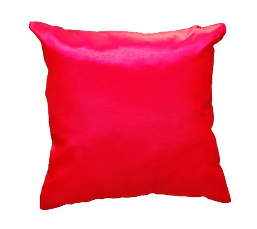 タイシルク クッションカバー  ゼブラ デザイン レッド 【Zebra Design , Red】 45×45cm 対応の商品画像05