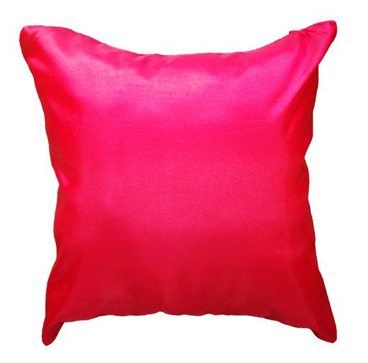 タイシルク クッションカバー  フラワー デザイン レッド 【Flower Design , Red】 45×45cm 対応の商品画像05