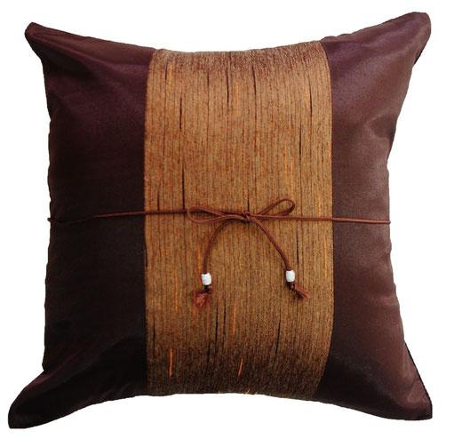 タイランド クッションカバー チェンマイ デザイン ブラウン 【Chiang Mai Design , Brown】 40×40cm の商品画像01