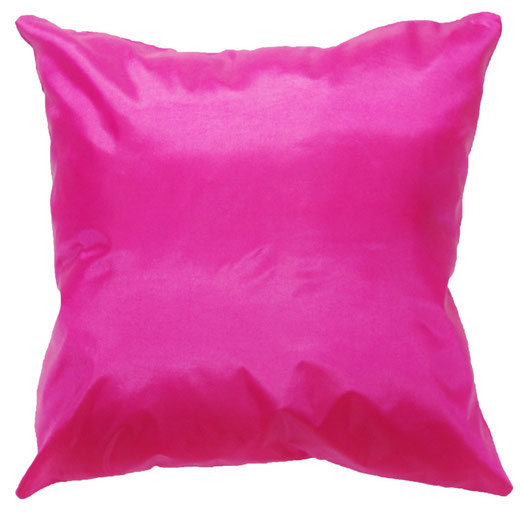 タイシルク クッションカバー  シンプル デザイン ピンク 【Simple Design , Pink】 の商品画像01
