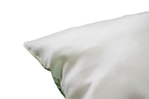 タイシルク クッションカバー  ゴールドリング デザイン ホワイト 【Gold Ring Design , White】 45×45cm 対応の商品画像06