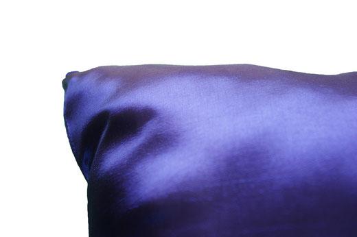 タイシルク クッションカバー  フラワー デザイン ブルー 【Flower Design , Blue】 45×45cm 対応の商品画像07