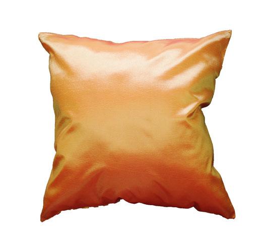 タイシルク クッションカバー  ゼブラ デザイン オレンジ 【Zebra Design , Orange】 45×45cm 対応の商品画像05