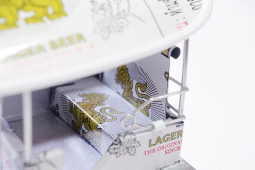 ハンドメイド トゥクトゥク (TUK TUK) シンハービール(ビアシン) Singha Beer の商品写真03 [タイ雑貨 アジアン雑貨 タイ旅行おみやげ]
