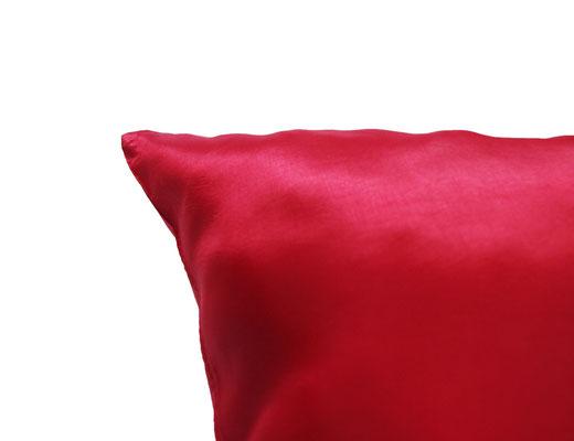 タイシルク クッションカバー  シンプル デザイン レッド 【Simple Design , Red】 の商品画像03