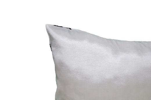 タイシルク クッションカバー  ロータス デザイン ホワイト 【Lotus Design , White】 45×45cm 対応 05