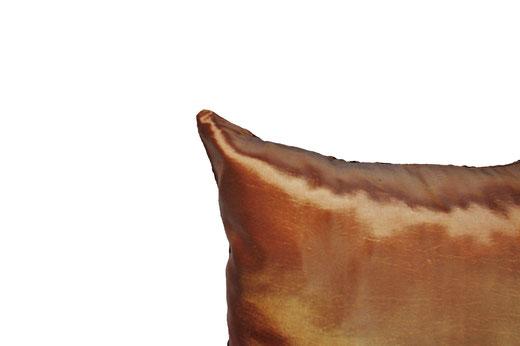タイシルク クッションカバー  インフィニティ デザイン ブラウン 【Infinity Design , Brown】 の商品画像04