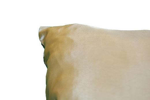 タイシルク クッションカバー  リングデザイン シャンパンゴールド 【Ring Design , Champagne Gold】 45×45cm 対応の商品写真17