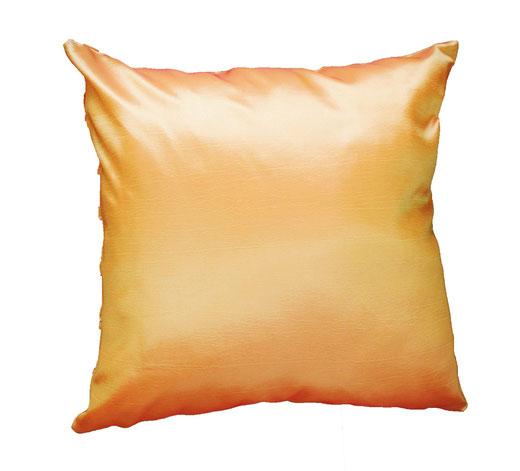 タイシルク クッションカバー  チェッカーデザイン オレンジ 【Checker Design , Orange】 45×45cm 対応の商品写真04