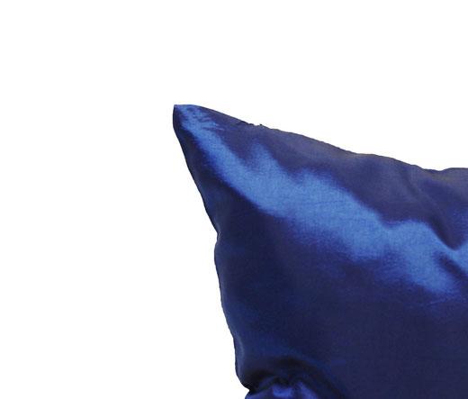 タイシルク クッションカバー  シンプル デザイン ブルー 【Simple Design , Blue】 の商品画像03