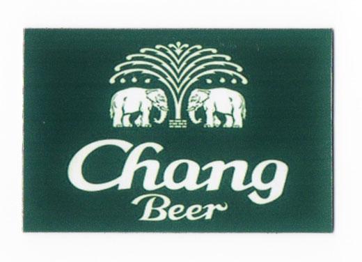 チャーン ビール マグネット type D (ディープグリーン×横タイプ) 1枚 【タイ雑貨 Thailand Beer Chang Magnet】の商品画像01
