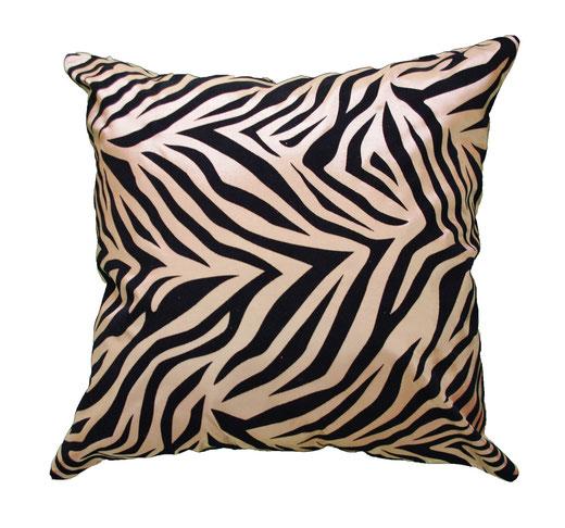 タイシルク クッションカバー  ゼブラ デザイン ゴールド 【Zebra Design , Gold】 45×45cm 対応の商品画像01