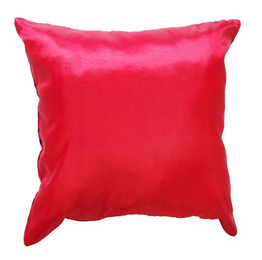 タイシルク クッションカバー  バンコク リーフ デザイン  レッド   【Bangkok Leaf Design , Red】 45×45cm 対応 04